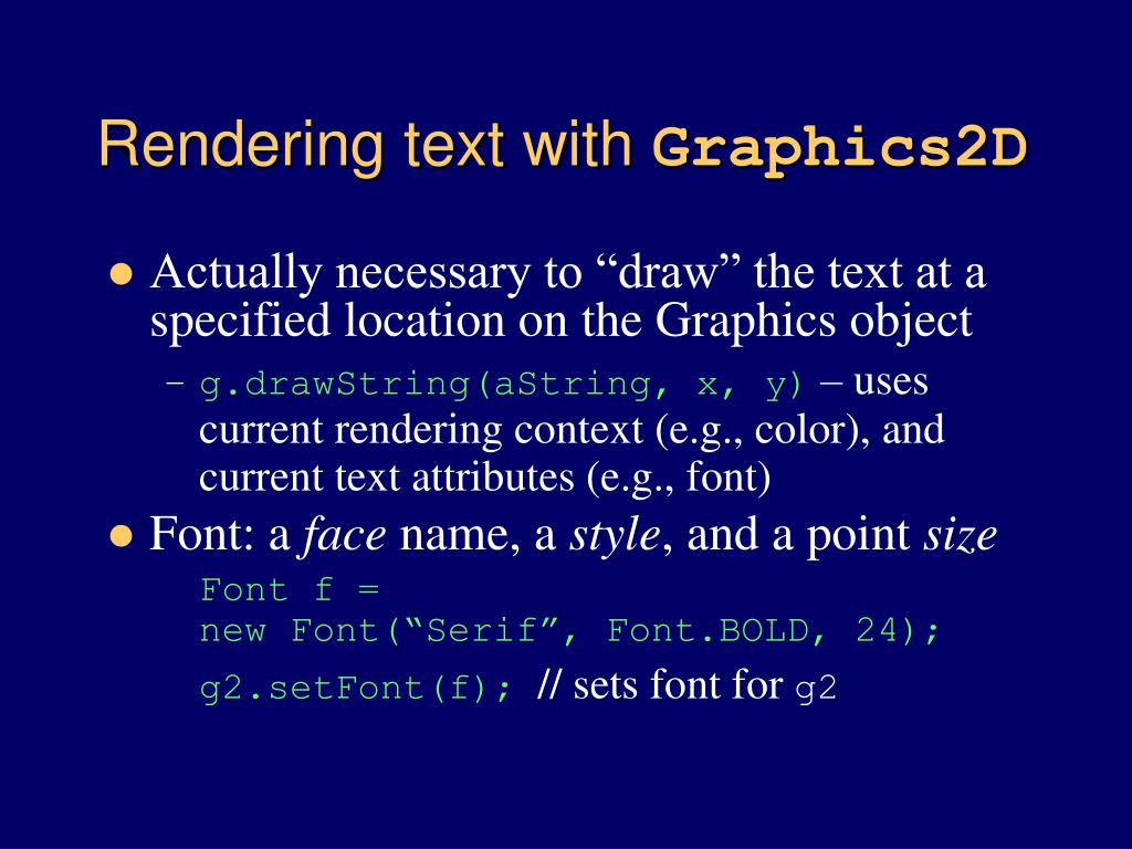 Rendering text with