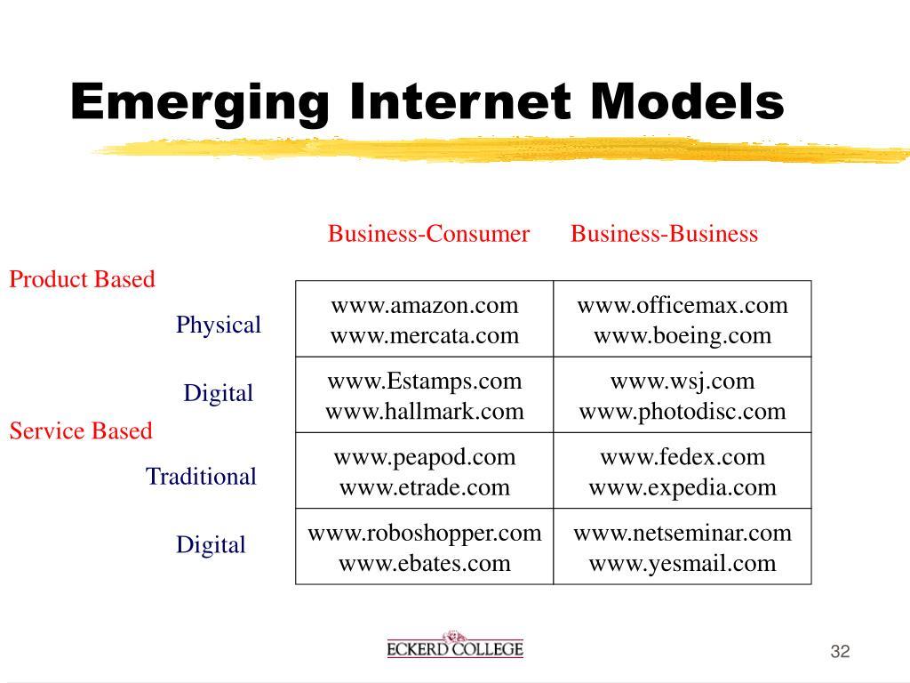 Emerging Internet Models