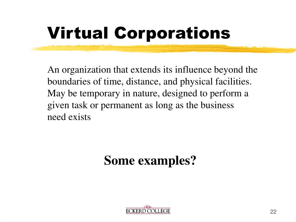 Virtual Corporations
