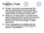 friedman finale
