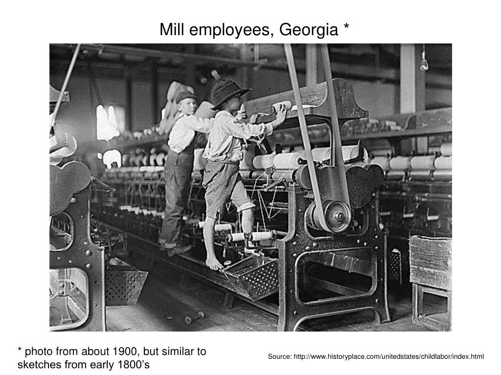 Mill employees, Georgia *