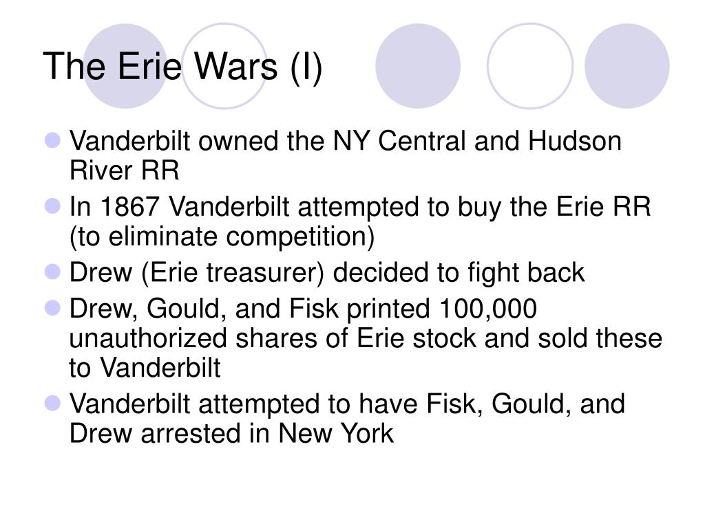 The Erie Wars (I)