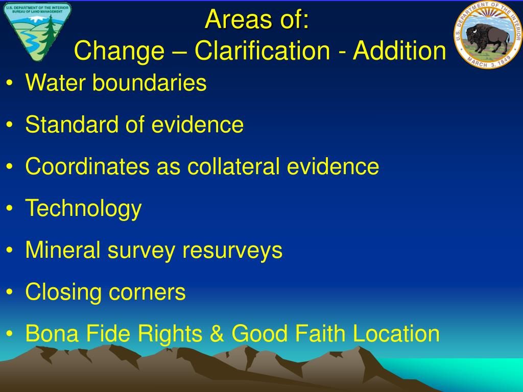 Areas of:
