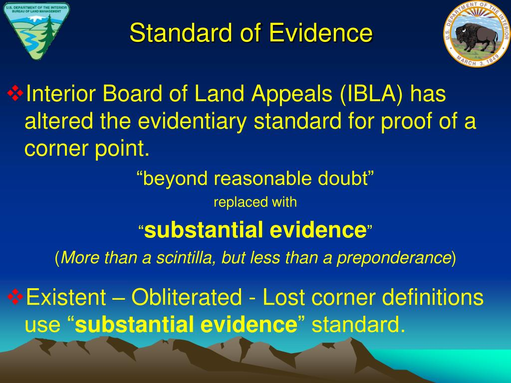 Standard of Evidence