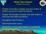 water boundaries chapters iii and viii