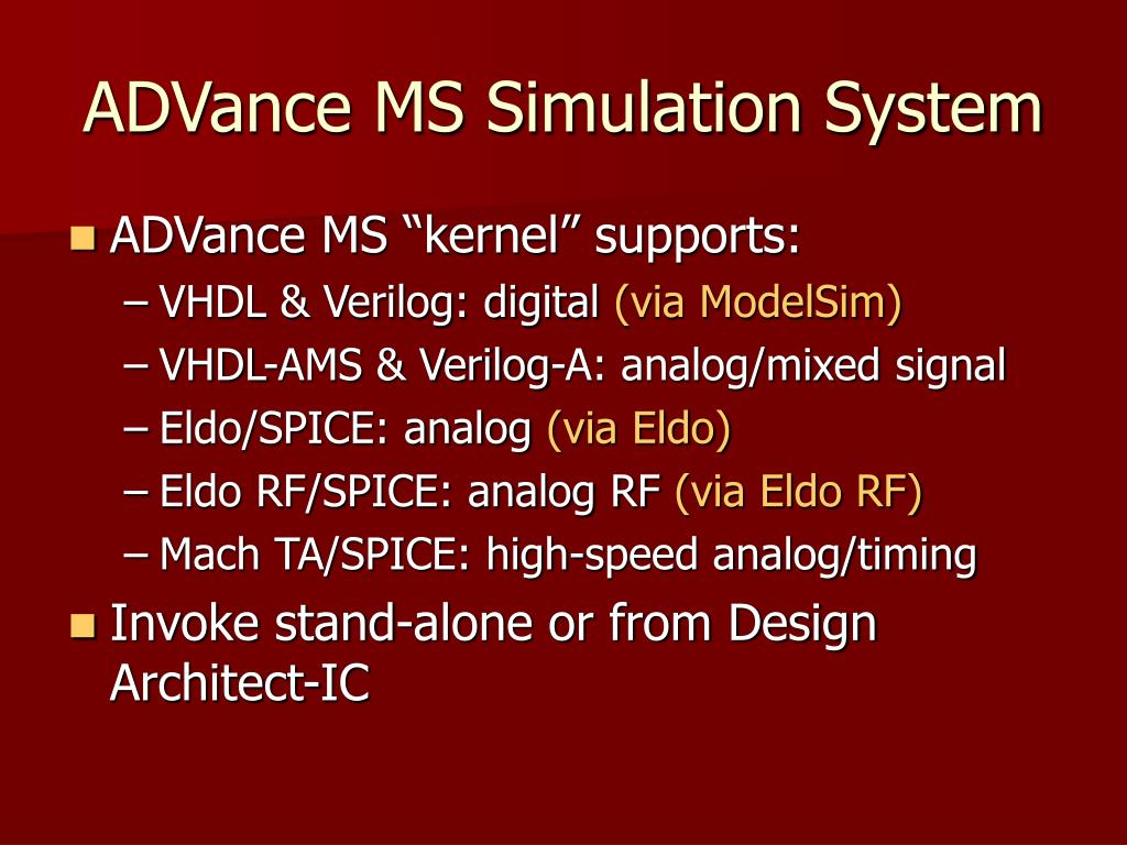 ADVance MS Simulation System