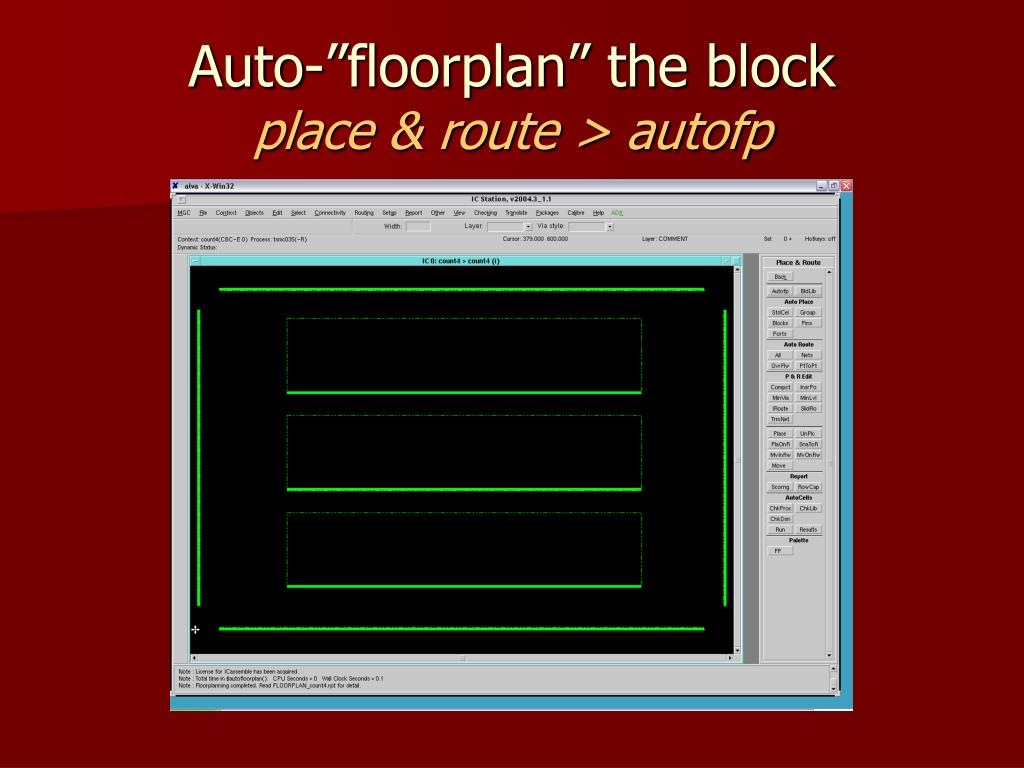 "Auto-""floorplan"" the block"