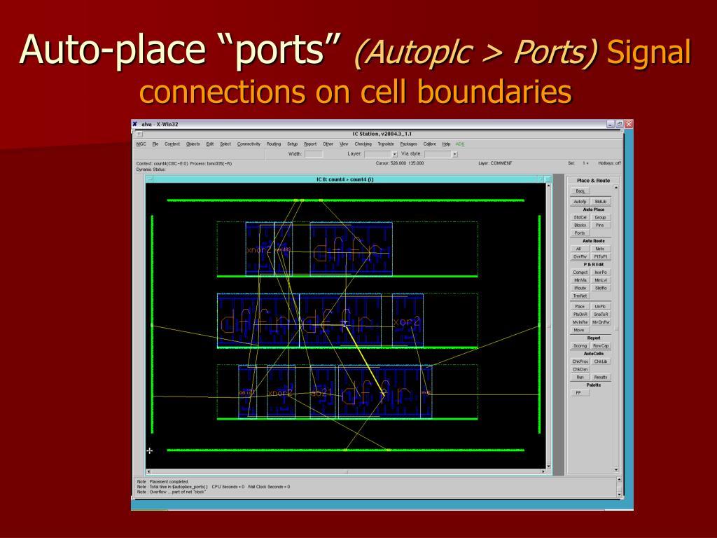 "Auto-place ""ports"""