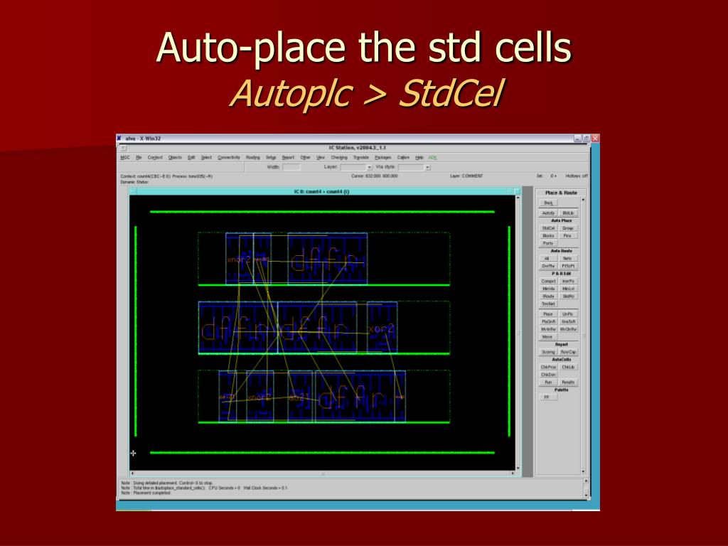 Auto-place the std cells