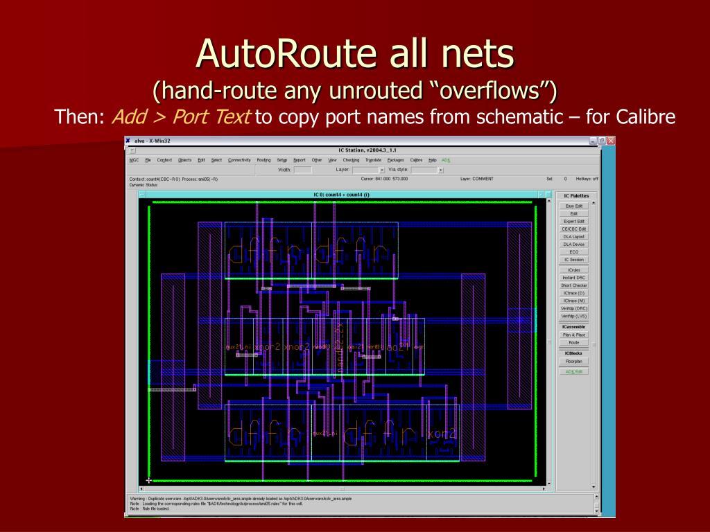 AutoRoute all nets