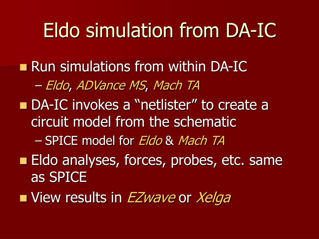 Eldo simulation from DA-IC