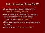 eldo simulation from da ic