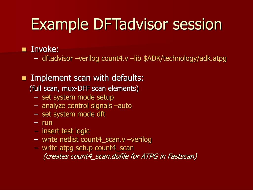 Example DFTadvisor session