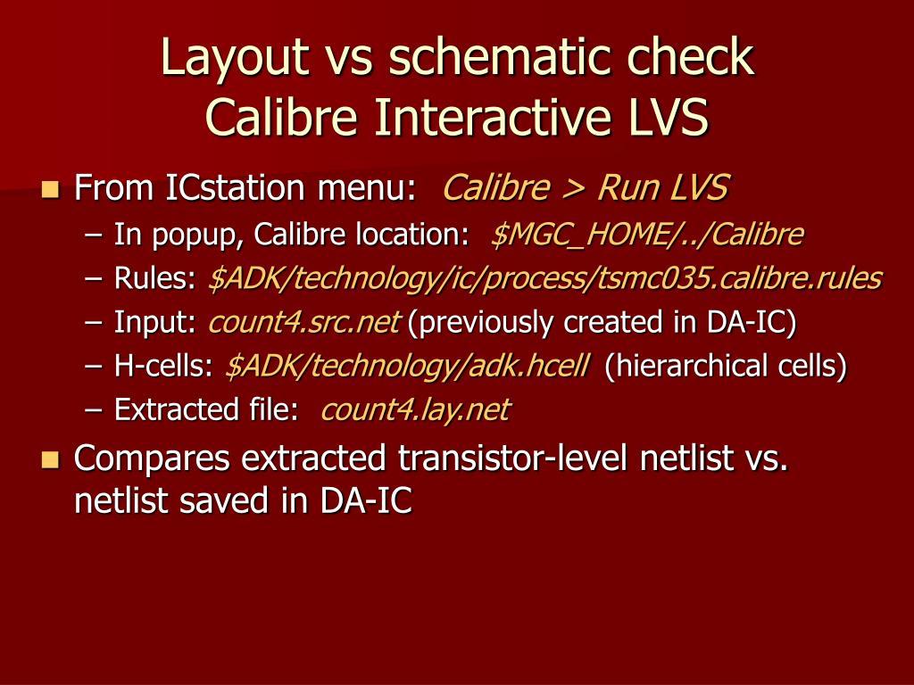 Layout vs schematic check