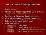 leonardo synthesis procedure
