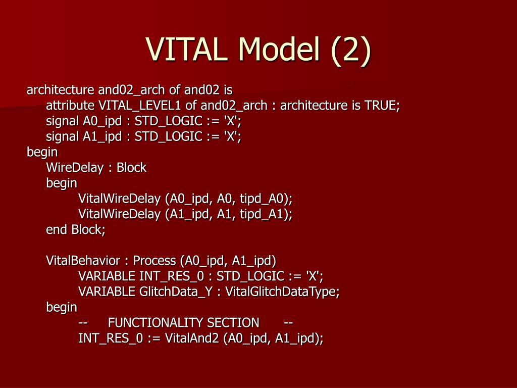 VITAL Model (2)