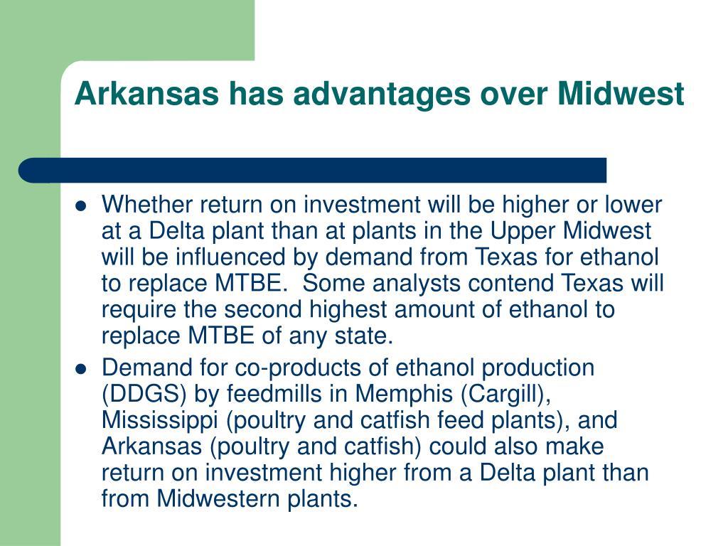 Arkansas has advantages over Midwest