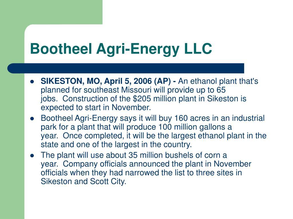 Bootheel Agri-Energy LLC