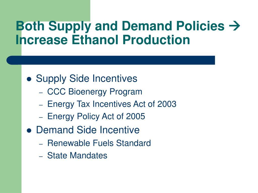 Both Supply and Demand Policies