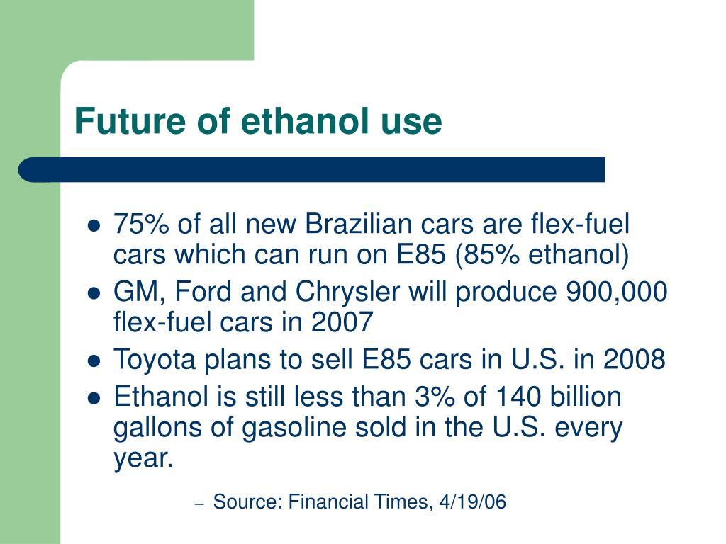 Future of ethanol use