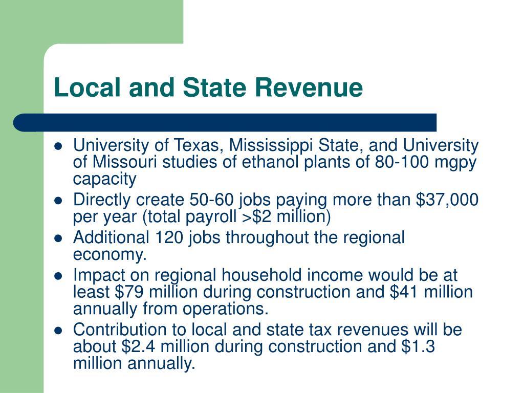 Local and State Revenue