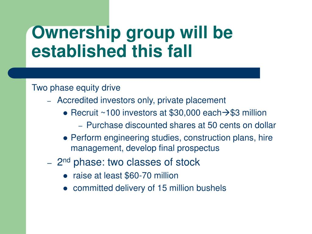 Ownership group will be