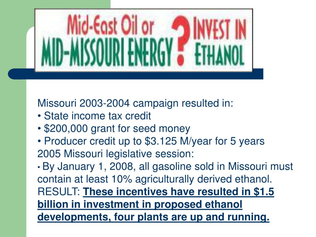 Missouri 2003-2004 campaign resulted in: