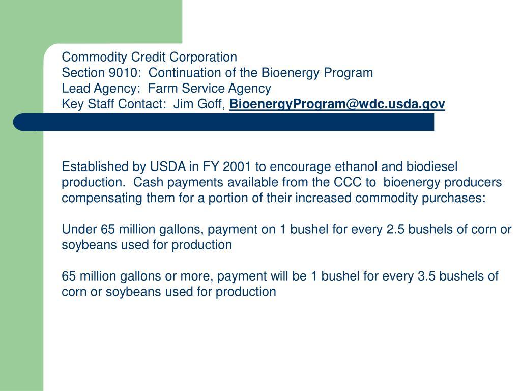Commodity Credit Corporation