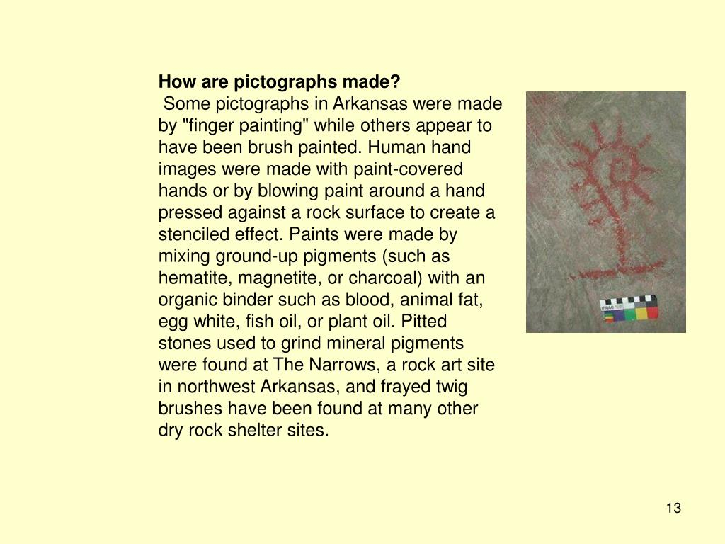 How are pictographs made?