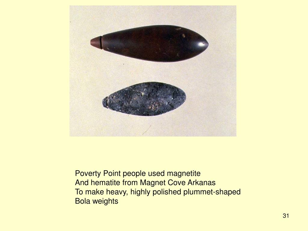 Poverty Point people used magnetite
