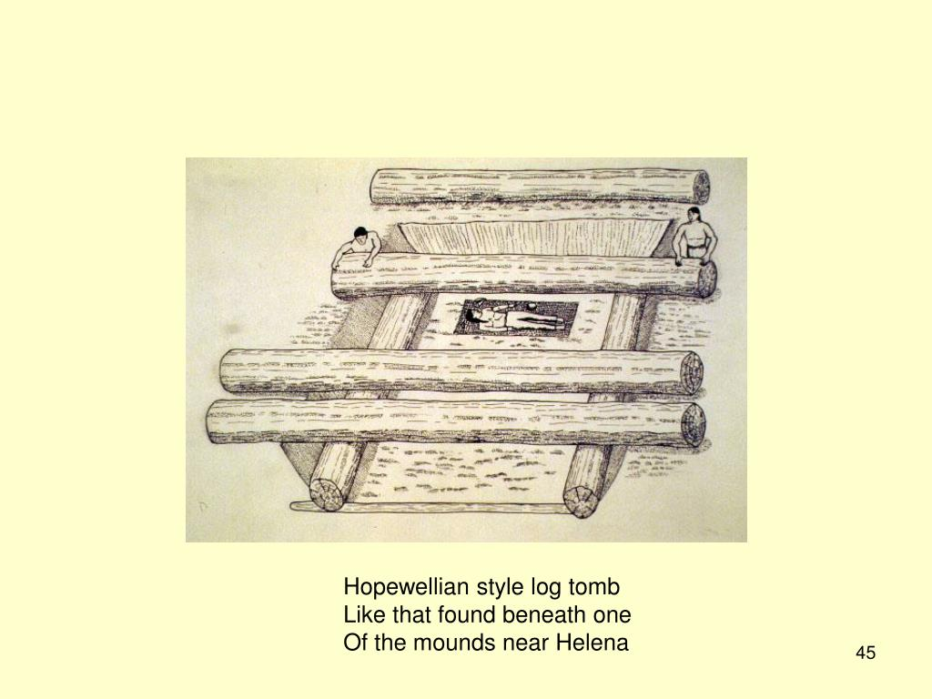 Hopewellian style log tomb