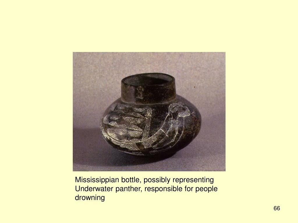 Mississippian bottle, possibly representing