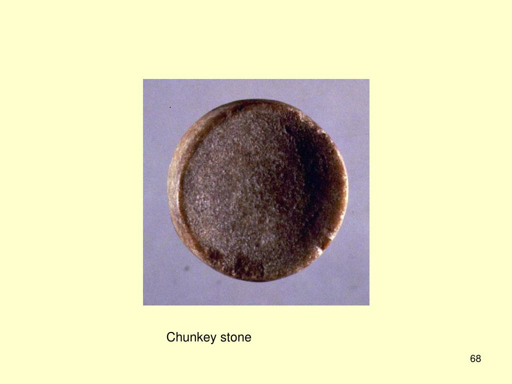 Chunkey stone