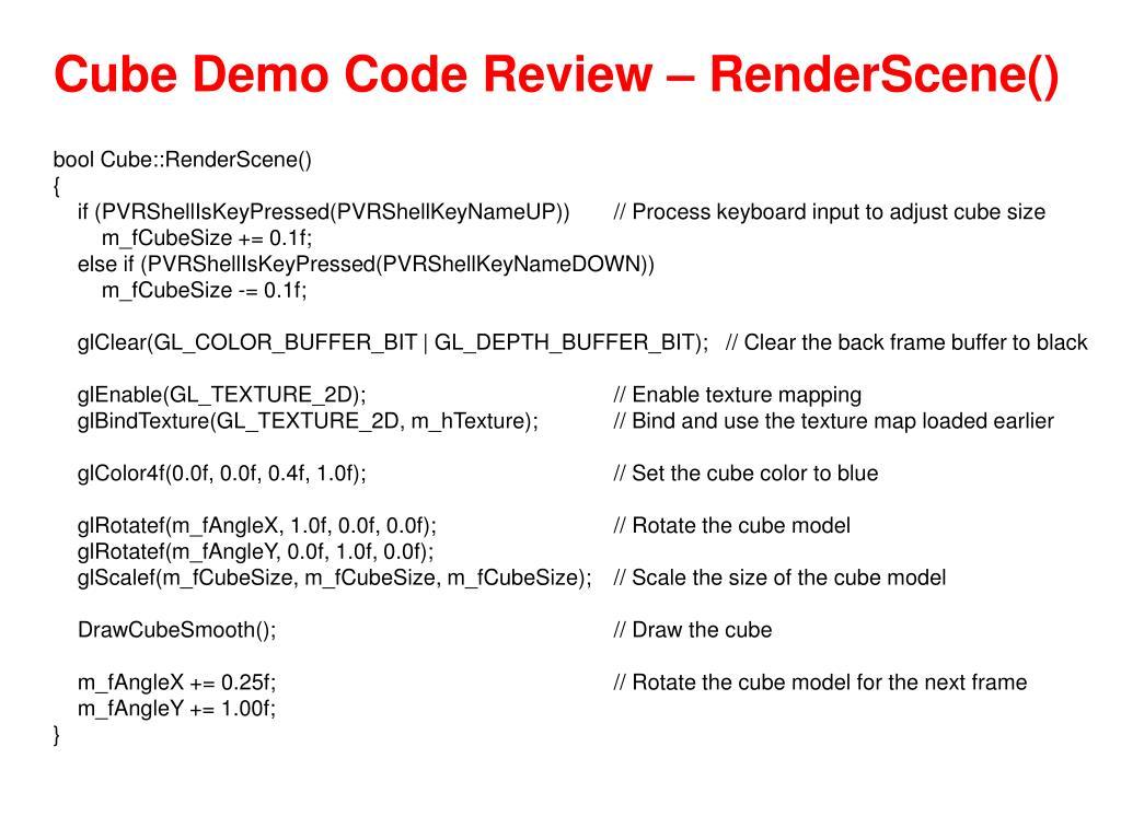 Cube Demo Code Review – RenderScene()