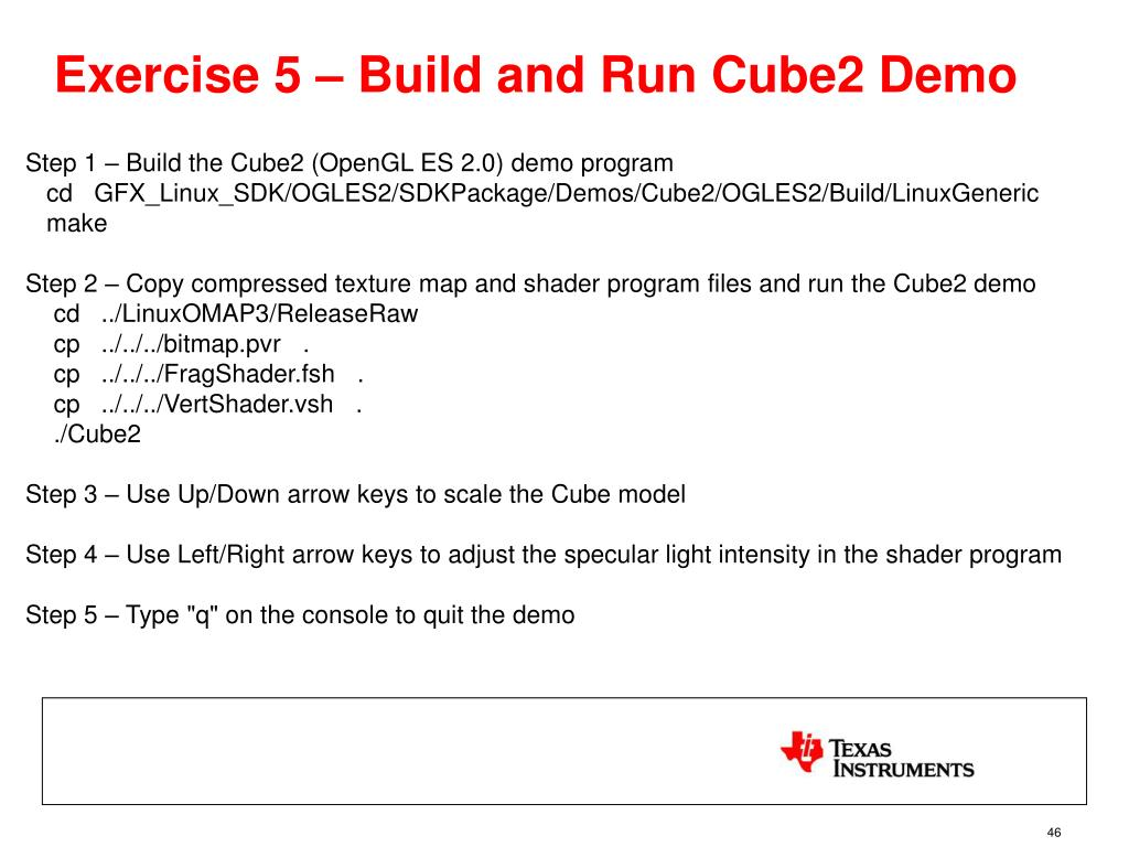 Exercise 5 – Build and Run Cube2 Demo