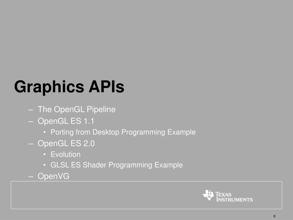 Graphics APIs