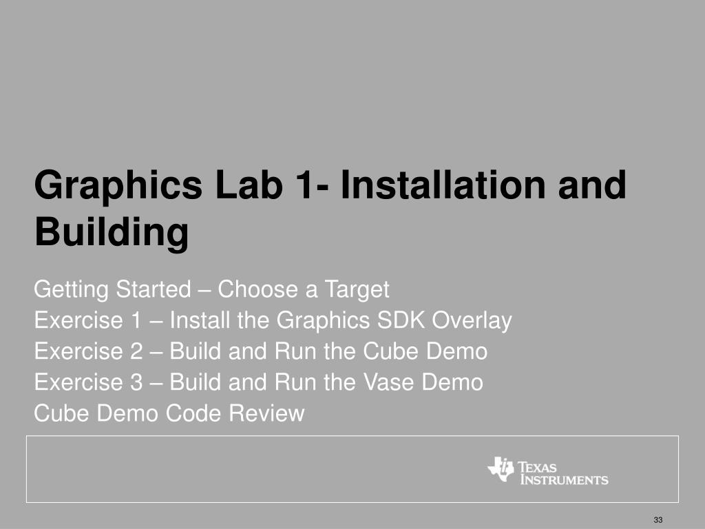 Graphics Lab 1- Installation and Building