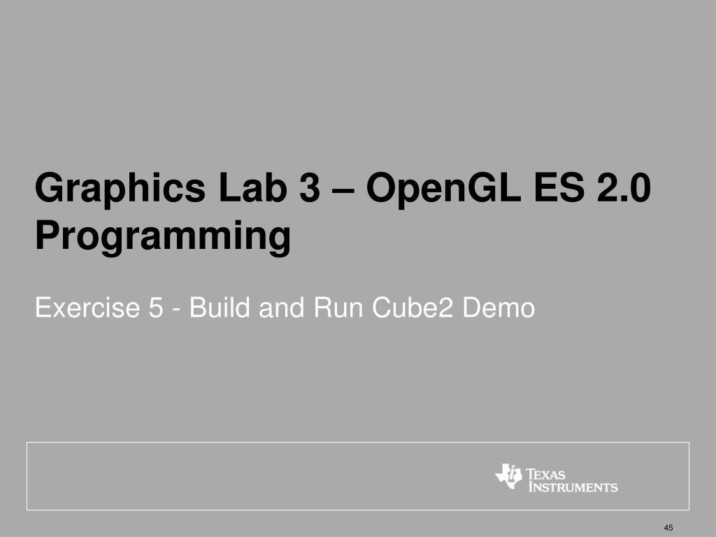 Graphics Lab 3 – OpenGL ES 2.0 Programming