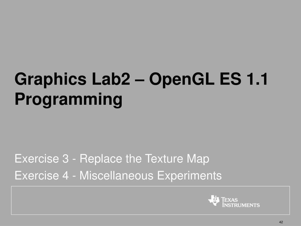 Graphics Lab2 – OpenGL ES 1.1 Programming