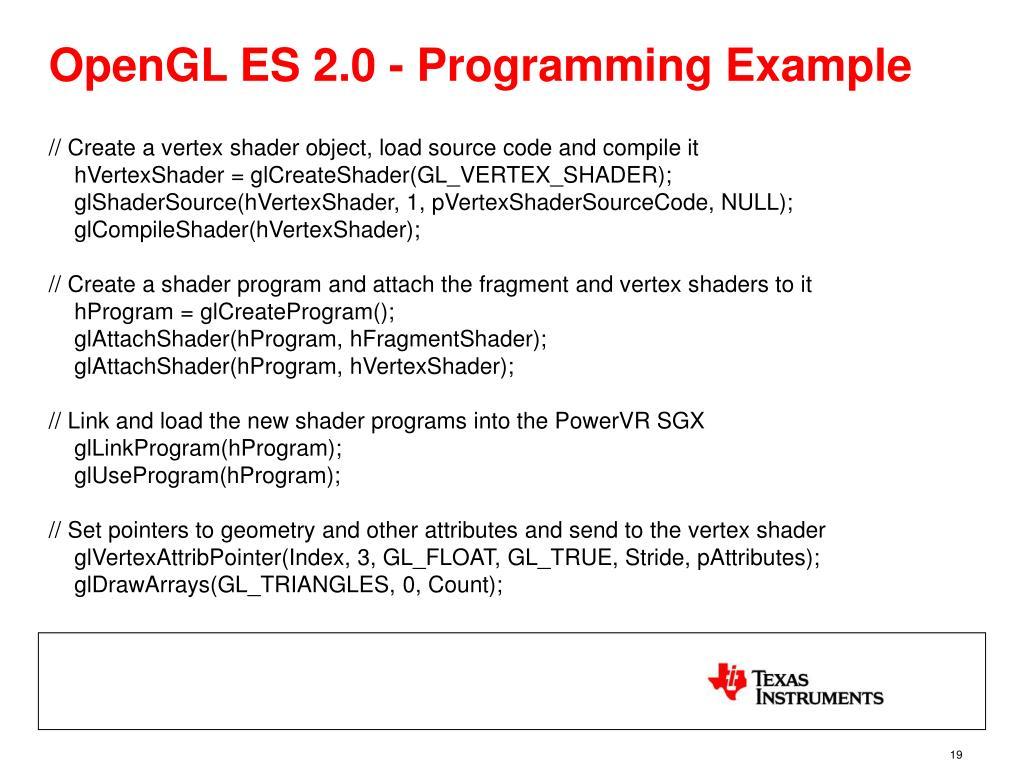 OpenGL ES 2.0 - Programming Example