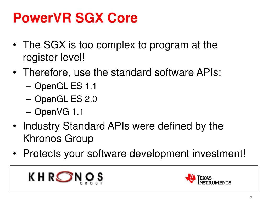 PowerVR SGX Core