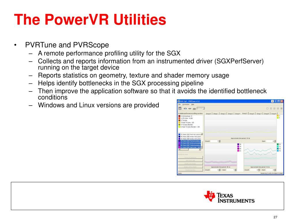 The PowerVR Utilities