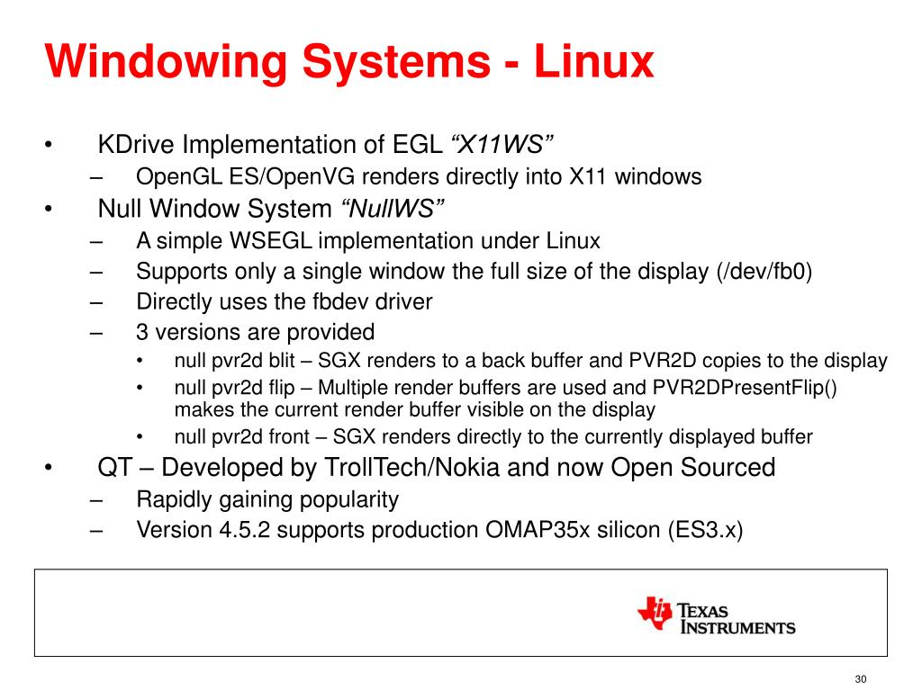 Windowing Systems - Linux