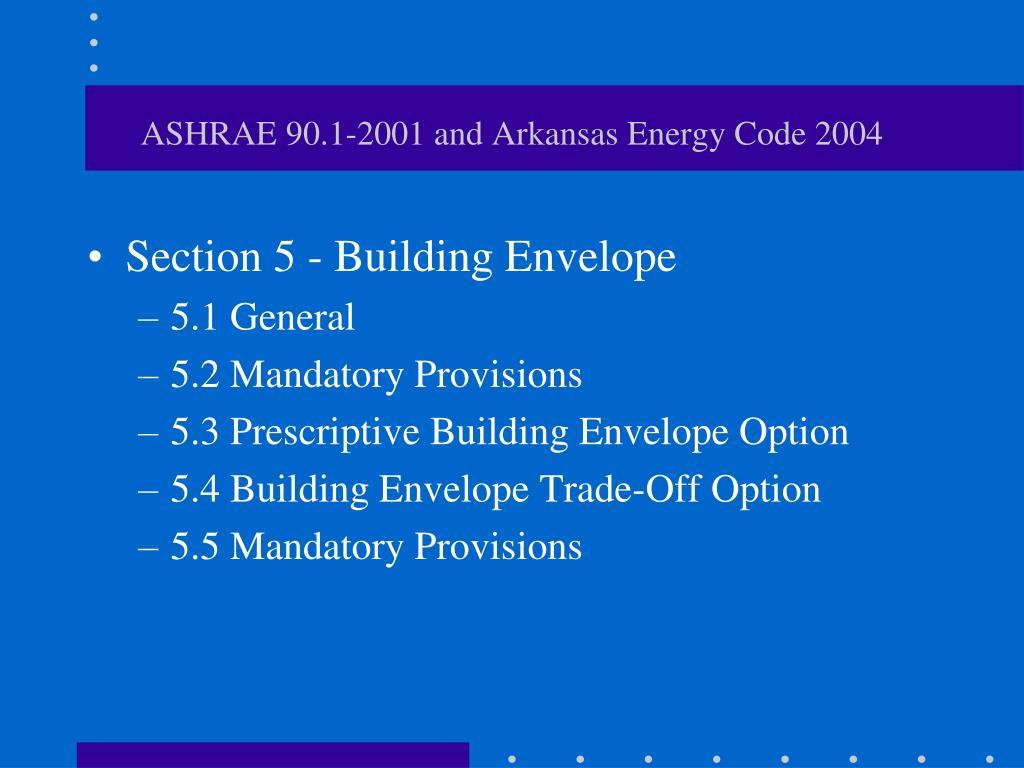 ASHRAE 90.1-2001 and Arkansas Energy Code 2004