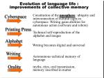 evolution of language life improvements of collective memory