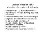decision model at tier 3 intensive interventions instruction