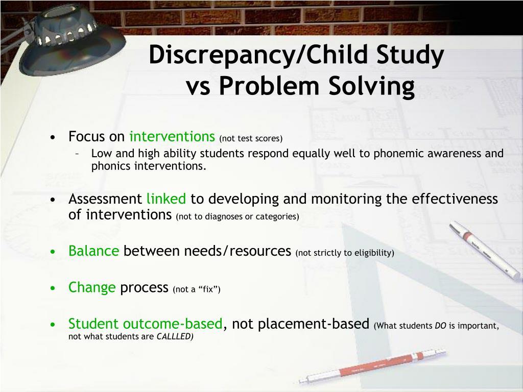 Discrepancy/Child Study