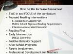 how do we increase resources