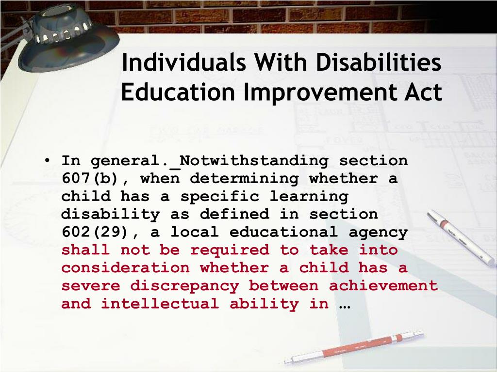 Individuals With Disabilities Education Improvement Act