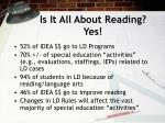 is it all about reading yes